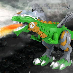 2020 48cm Electric Fire-breathing Dragon Special Light Sound Effect Mechanical Movable Transformation Dinosaur Kids Toy 2 colos LA283