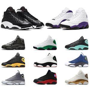 Nike Air Jordan 13 13s Hombres Zapatillas de baloncesto 13 Gorra y bata Atmosphere Grey Él consiguió el juego Black Cat Bred Phantom Designer Sport Trainer Sneakers