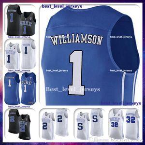 NCAA DUKE Blue Devils # 1 Zion Джерси Уильямсон 5 RJ Трикотажные Barrett 2 Cameron красновато Christian 32 Laettner 4 J.J Джерси Redick быстро Shippi