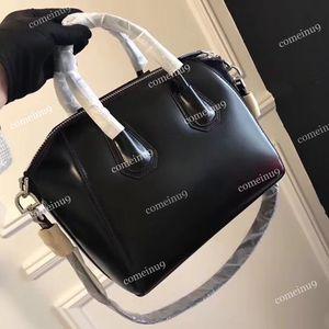 Высокое качество женская натуральная воловья кожа сумка тотализатор w ремень Ремень 33 см черный Антигона сумка мода плеча Crossbody сумки 28 см бесплатно