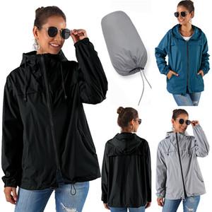 Femmes Outdoor Trench portemanteau App.:H-parl pluie Veste à capuche Homme Solide Couleur Printemps Coat Automne