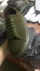 المخملية حذاء الجيش الأخضر Chunkey Chaussures الحذاء منصة أحذية رياضية أحذية رياضية جلدية الصلبة اللون المشي لمسافات طويلة أحذية