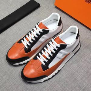 2020 New Luxury DesignerMarkeHermesH Sneakers Top Kuhfell Mode für Männer bequeme beiläufige flache Schuhe hohe Schuhe RD 02