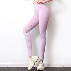 Sexy Femme Courir Pantalon Hip levage Vital sans couture tricot multicolore Fitness Yoga entraînement Legging Tight Athletic Apparel pantalons 36zc E19