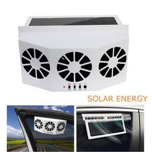 3 más frío del coche del ventilador de refrigeración solar Extintor Vent Safe Portable auto solar del ventilador posterior del frente de la ventana salida de aire del sistema de ventilación antivaho