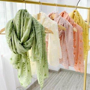Lençóis de algodão Flor Scarf 180 * 80cm 12 cores Outono Inverno Pashmina Cachecóis Moda doces cores Mulheres Xailes OOA8185