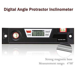 Freeshipping Digital Angle Gauge Level Box Protractor Angle Finder Inclinometer With Magnetic Base Calculating For Carpentry Building Mason