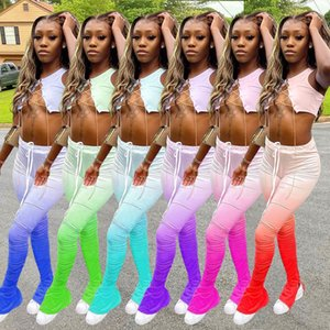 Designer Women Shorts Outfits estate Tuta sportivo camicia rosa Top + Pants 2 pantaloni pezzi serie Tie Dye donna tute vestiti 88971