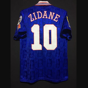 Retro France Henry Vieira Zidane Djorkaeff Pires Trezeguet Deschamps Football Maillots Francia Vintage T-shirt classique Kit