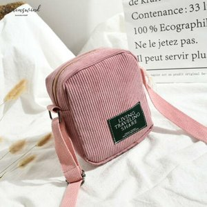Square Messenger Bags Women Corduroy Tote Business Package Ladies Casual Shoulder Bag Japanese Style Small Crossbody Bag