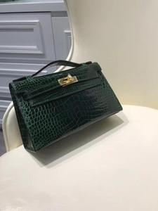 Atacado melhor bolsa design de qualidade crocodilo original, saco de luxo, bolsa de ombro, 2colors, entrega rápida por DHL