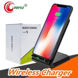 Qi Wireless Charging Stand Dock 3-Coils Charge For Samsung Note9 For iPhone XS XS Max New Accessories Brusting Free Shipping