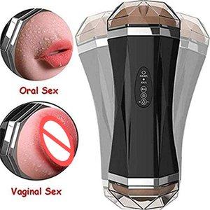Double tête Hommes Masturbation Realistic Vaginas Full Automatique Piston Automatique Training Sex Toy GHMWQ