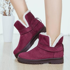 new fur one snow boots female large size short tube winter foreign trade ladies short plus cotton boots children triple