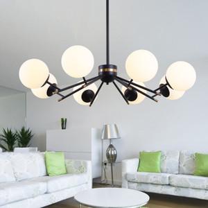 جديد حار الزجاج الكرة الحديثة الثريا غرفة المعيشة المطبخ نوم البسيط طويل شنقا الثريات الإضاءة بريقا
