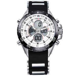 WEIDE Männer Luxusmarke digitales Zahlquarzwerk Sport militärische Männer 30m Wasserdicht beiläufige Armbanduhren Uhr relogio