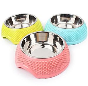 Будки Stainles фидера стал собакой миски еды и воды собаки шар три цвета конфеты фирма небьющегося