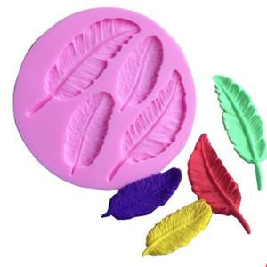 Feather Forma Collezione torta Mold 1 pc del silicone del fondente del cioccolato del sapone muffa della decorazione della gelatina della caramella 3D fondente Lace Mold Promozione