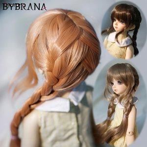 Bybrana 1/3 1/4 1/6 BJD SD парики длинные Straigst двойной твист оплетка высокая температура Бесплатная доставка волокна для кукол T200428
