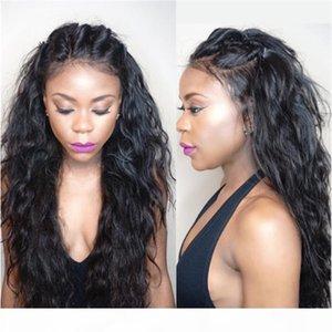 Una base di seta malese merletto della parte anteriore parrucche Virgin dei capelli Preplucked Body Wave pizzo umano anteriore parrucche superiori di seta di Glueless Per afro americana Wom