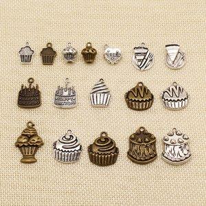 60 Pieces jóias feitas à mão Celebration Acessórios Peças feliz do bolo de aniversário do queque HJ099