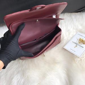 En kaliteli tasarımcı çanta kuzu derisi deri bayan çantası CF klasik flep haberci çanta zincir omuz çantaları tasarımcı lüks çanta çantalar