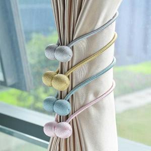 Magnetic flanela Rodada Cortina Tiebacks Laço Faz clipes Holdbacks Buckle acessórios Rods acessórios de decoração Cortina Anéis
