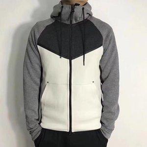 Windrunner Dividir com capuz Joint Corset Cardigan Mens Sportswear Sports Academia manga comprida com capuz Mens Moletons Com Zipper