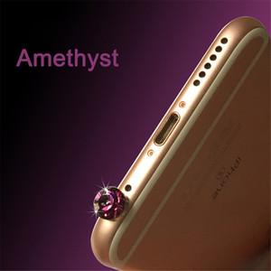 Teléfono celular anti-polvo de 3,5 mm Accesorios para el teléfono móvil del enchufe del polvo de diamante aparatos auriculares enchufe del polvo Tapones para el iPhone 5 5s 6 6s FC01