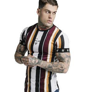 España camiseta del hombre Sik seda de la marca Ropa de Hip Hop Sik camiseta de la manera camisetas casuales Tops camiseta Siksilk camiseta de los hombres la ropa M-2XL