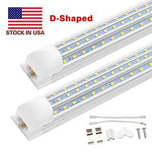 Livraison gratuite 4FT. 5FT. 6FT. 8FT. 120W LED Tube lumières T8 ampoule intégrée avec des parties en forme de V 270 85-277V angle lumières de la boutique Cooler