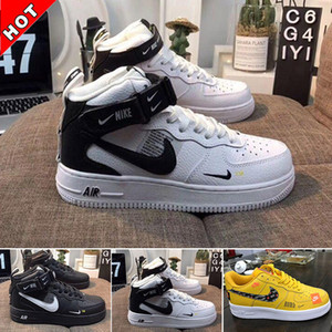 Nike air force 1 one off white New White x 1 basse forze di MCA Università Blu 2019 correnti del mens moda scarpe sportive Designers Sneakers Air One des chaussures off STQ scarpa