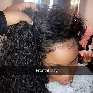 Profundo Curly 360 Lace Front Humanos perucas de cabelo 250 Densidade 13x6 Lace Wig frontal 370 Scalp Falso ujibg peruca curta Bob Lace brasileira