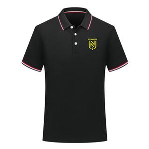 Polo uomini FC Nantes Calcio Polo estate camicia di polo manica corta da calcio per allenamento shirt Moda Maglia Polo Sport calcio uomo