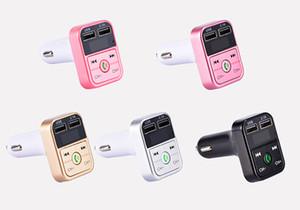 El más reciente B2 transmisor de FM multifunción inalámbrico Bluetooth USB cargador de coche Mini MP3 Player Car kit del sostenedor de tarjetas TF auricular manos libres modulador