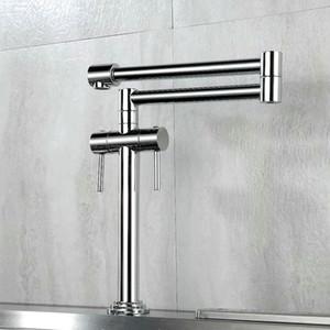 Katlanabilir mutfak musluk, sıcak ve soğuk evye musluk 360 derece dönen musluk suyu moda krom / altın / nikel / siyah