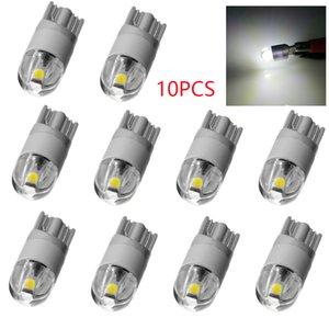 التخليص 10PCS أضواء السيارات T10 T10 LED W5W 194 3030 2SMD 2W لوحة ترخيص أضواء الأبيض السيارات الداخلية مصباح اكسسوارات السيارات