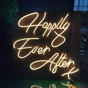 neón LED de la decoración de la boda signo producto personalizado regalos multicolor chica marchosa señal usada de interior de alta calidad felices para siempre x