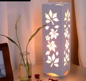 cabecera del dormitorio tallado lámpara de mesa creativa oscurecimiento cálida luz de la noche mesa de regalos de cumpleaños + soporte para teléfono móvil