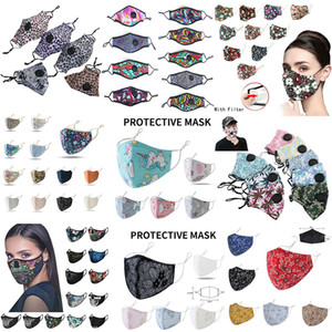 Mode Gesichtsmaske Atem Valve Anti-Staub-Gesichtsmaske Folding ohne Ventil Schutzstaubdichtes PM2.5 Designer Gesichtsmasken Freies Verschiffen