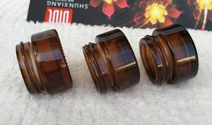 5g 5 ml frasco de vidro âmbar armazenamento de óleo de cera mini pequeno recipiente de vidro cosmético com tampa de prata tampa de ouro preto