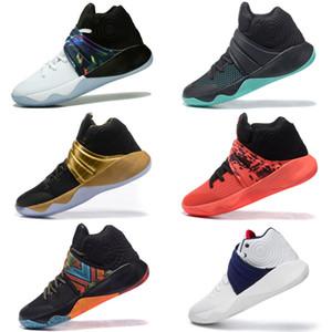 2018 Yeni Kyrie 2 Basketbol Ayakkabıları, Spor Erkek Ayakkabı Kırmızı Eğitmenler Ayakkabı Sneakers Basketbol ayakkabı Boyutu 40-46