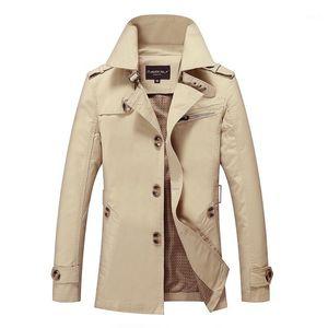 Los nuevos Mens Trench Coat diseñador de moda hombre medio-largo del otoño del resorte del estilo británico chaqueta delgada cazadora Hombre más el tamaño M-5XL1