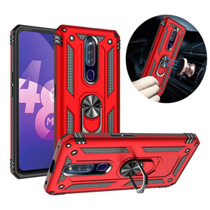 Hybrid armatura anello del metallo supporto magnetico montaggio per auto di caso per OPPO R15 R17 F11 Pro R19 A5 A3S A7 A5S VIVO NEX S Una X21 X23 X27 V15 Y17