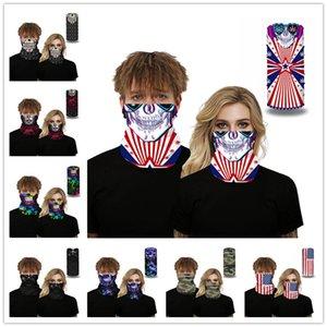 Fuentes de la máscara 3D cráneo sin fisuras moto de la cara de Headwear de la bufanda mágica ciclo al aire libre Pesca Ski Party Pañuelos Senderismo