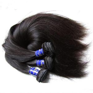 10a human hair bundles 3pcs 300g lot unprocessed peruvian virgin hair straight 100% remy human hair extension natural color
