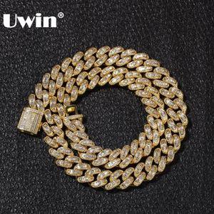 UWIN Luxury Замороженной Сеть Cubic циркон Miami Багет кубинской Ссылка ожерелье Hiphop Sqaure CZ мода Mens верхнего качества ювелирных изделия Сеть