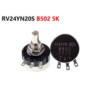 Single turn carbon film potentiometer RV24YN20S B502 5K adjustable resistor
