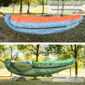 Sacos de dormir multifuncionales para acampar con hamaca de aire caliente y sombrero. Primavera, otoño, invierno 3 temporada Ligero, impermeable para adultos