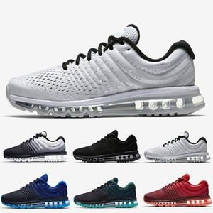 Nike Air Max 2017 nuevas llegadas Hombres Mujeres Zapatos Negro Blanco zapatilla de deporte 2016 de la alta calidad del deporte de los zapatos corrientes de EE.UU. Sz 5,5-11